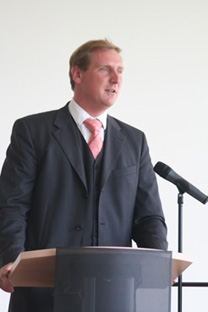 Minister Dr. Christian von Boetticher bei der Eröffnungsrede